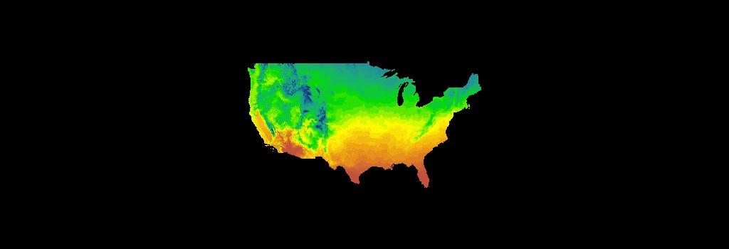 Historical annual temperature (CONUS) (Image Service)   U S