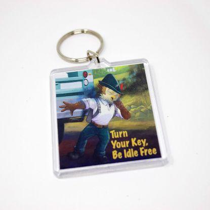 Be Idle Free key chain - Woodsy Owl
