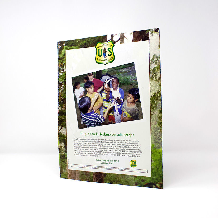 Junior Forest Ranger Adventure Guide back cover- English