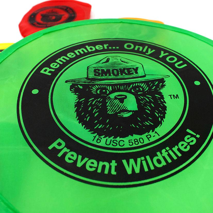 Smokey Bear Flying Disks - close up