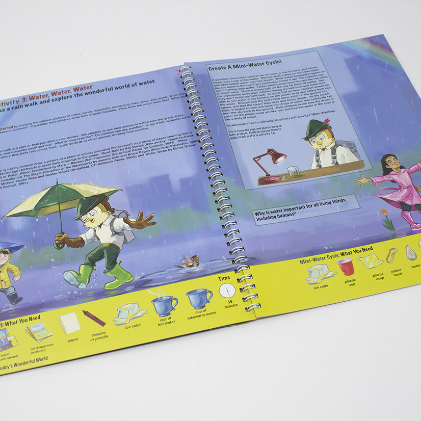 Woodsy Owl Activity Book - inside peek