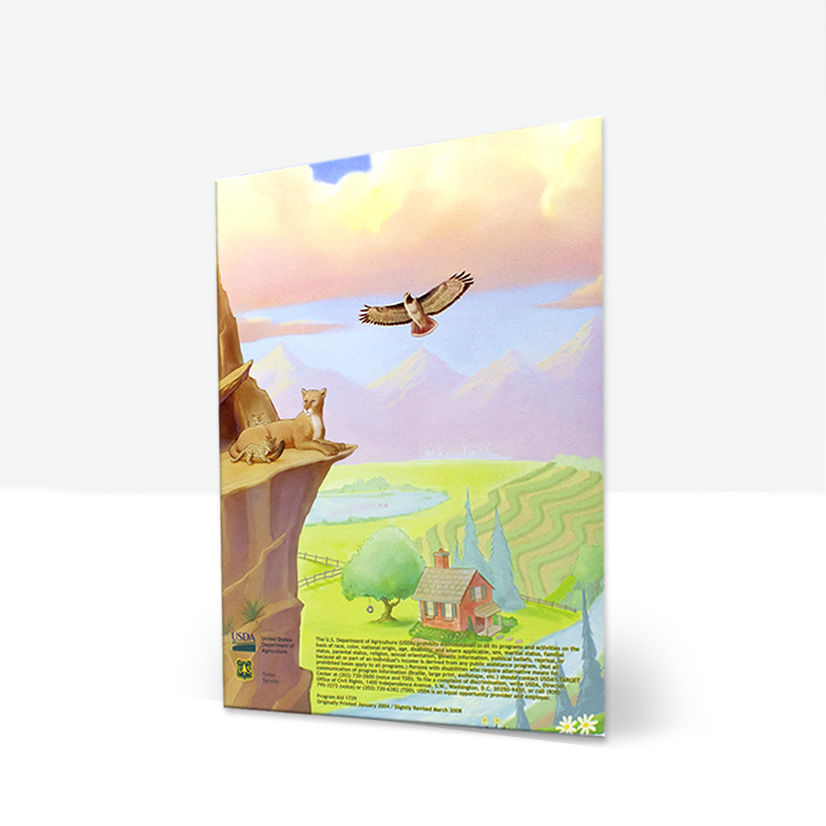 Woodsy Owl's ABC's Book back cover - Spanish