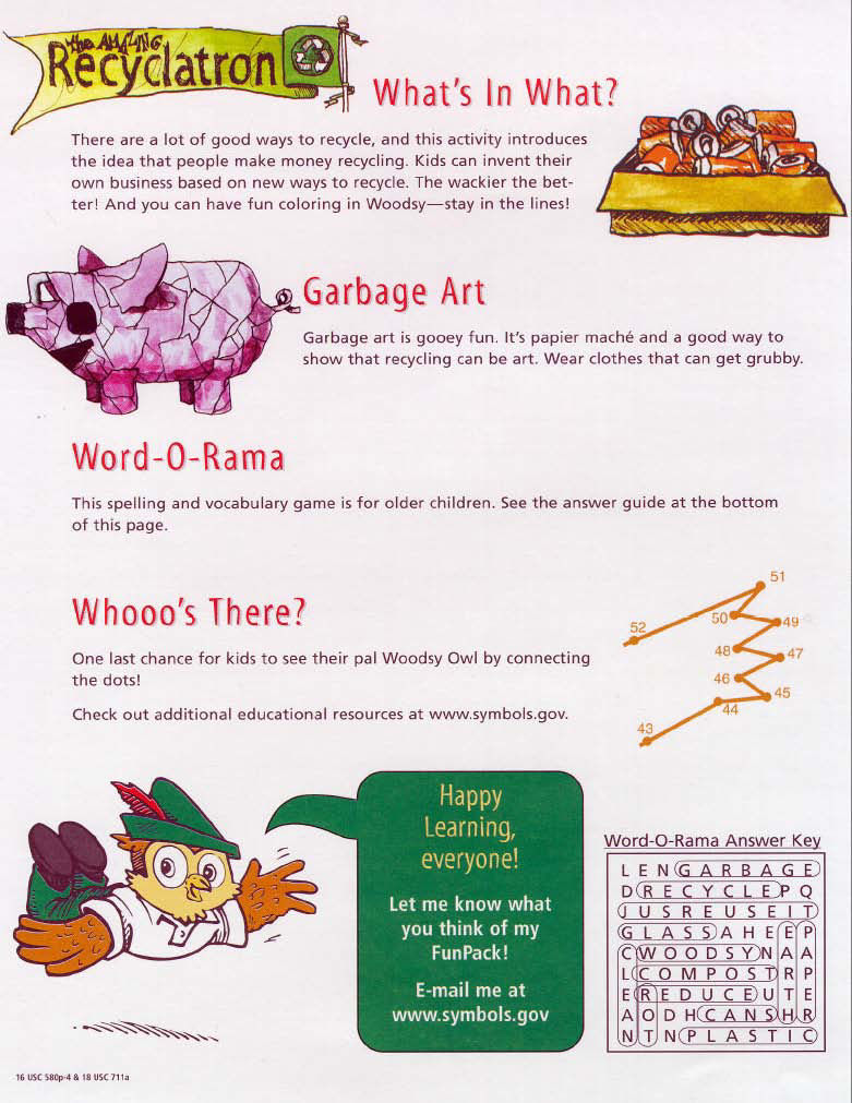 Picture of Woodsy Owl's 4R's - English