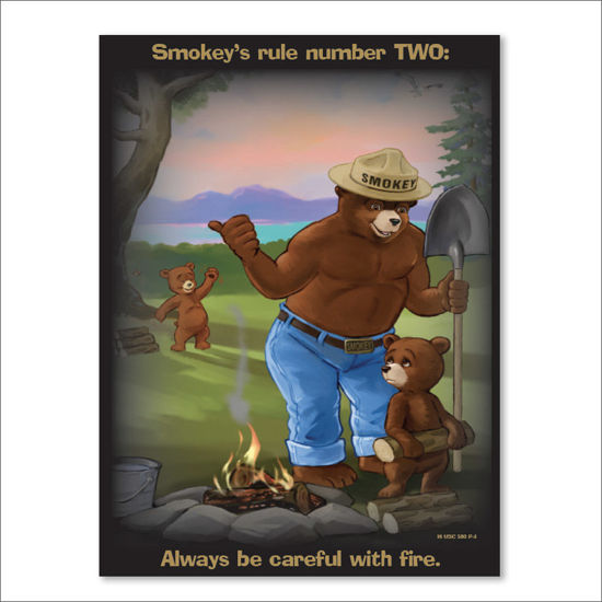 Picture of Smokey's Rule Number TWO Poster - English