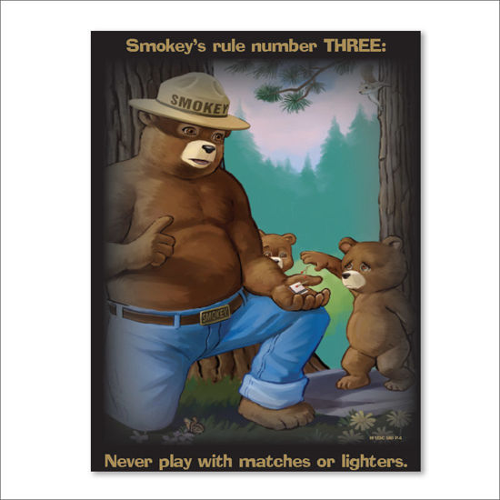 Picture of Smokey's Rule Number THREE Poster- English