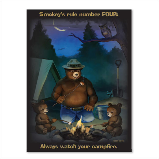 Picture of Smokey's Ruler Number FOUR Poster - English