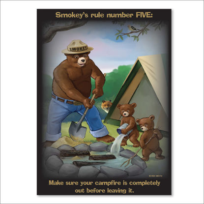Picture of Smokey's Rule Number FIVE Poster - English