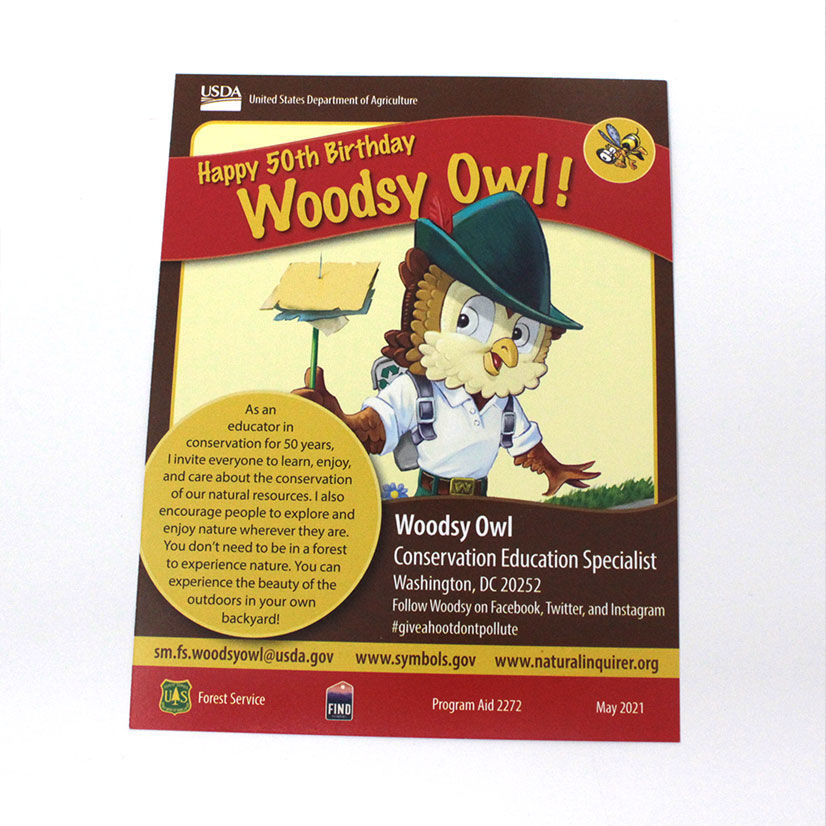 Picture of Natural Inquirer Woodsy 50th Birthday Card