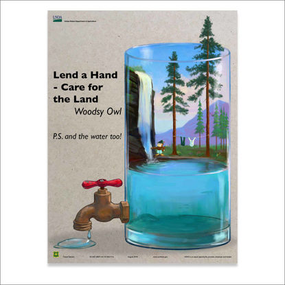 Picture of Lend a Hand - Care for the Land (Water too) Poster