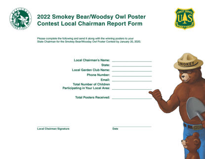 Picture of NGC Poster Contest - Local Chairman Winning Report